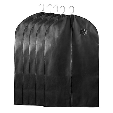 069c2546eecf Breathable Suit Carrier Travel Garment Bag Clothes Cover Black 40 ...