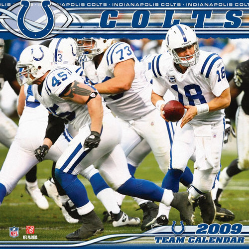 NFL - Indianapolis Colts 2009 12 inch by 12 inch Team Wall Calendar