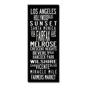 Uptown Artworks Los Angeles Coastline by Uptown Artworks Framed Textual Art on Wrapped Canvas