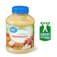 (3 Pack) Great Value Unsweetened Applesauce, 46 oz