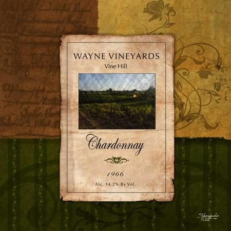 Chardonnay Wine Label Stretched Canvas - Shawnda Eva (24 x 24)