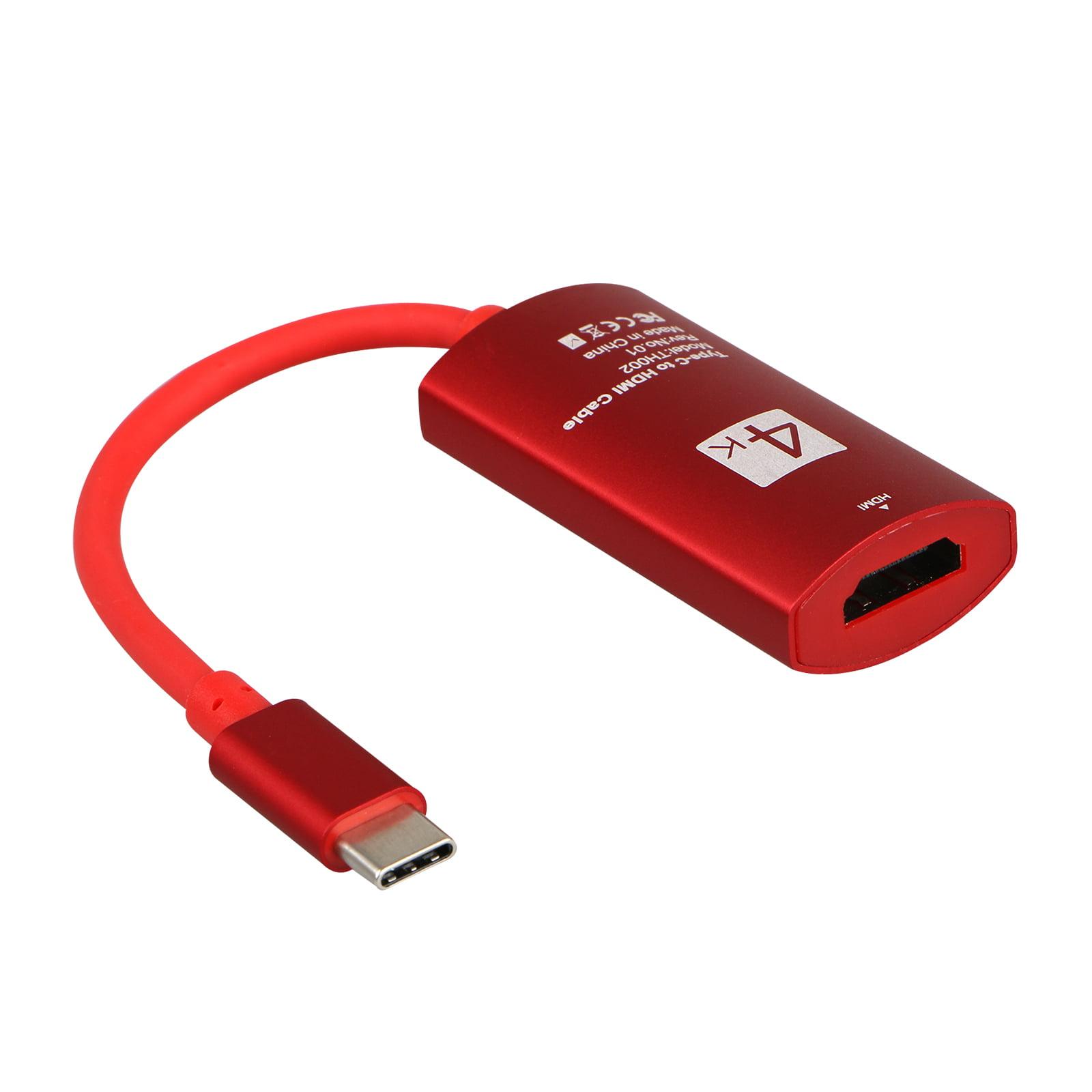 TSV USB-C Type-C to HDMI 4K*2K UHD HDTV Adapter for Samsung Galaxy S9/S8 MacBook Pro