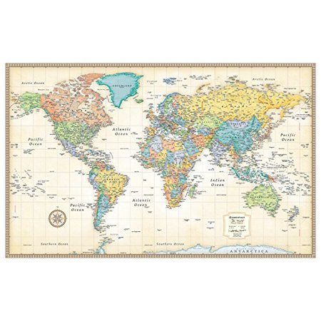 Rand McNally Classic World Wall Map - (Laguardia Map)