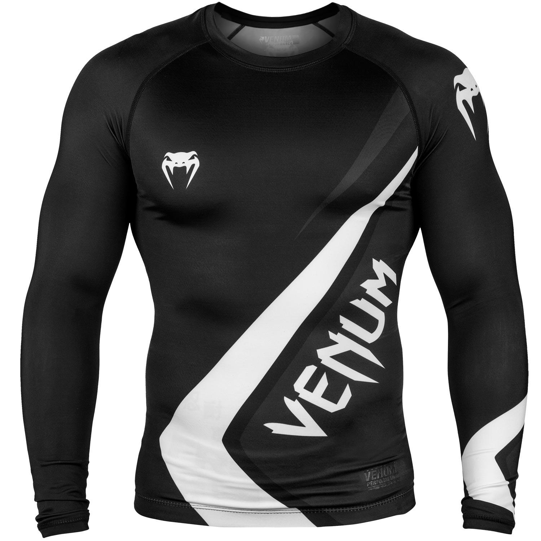 Venum Contender 4.0 Rashguard - Long Sleeves - Black/Grey/White-M