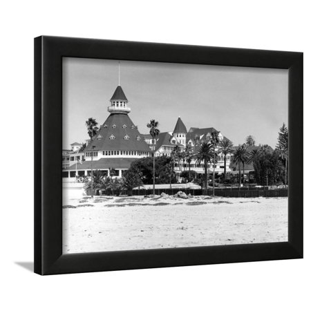 Hotel Del Coronado Framed Print Wall (Coronado Mall)