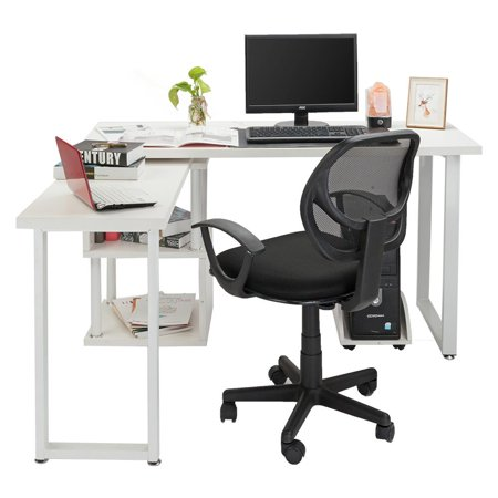 Ktaxon Corner Computer Desk L-Shaped Office Home Office Study Laptop PC Work Wood Table