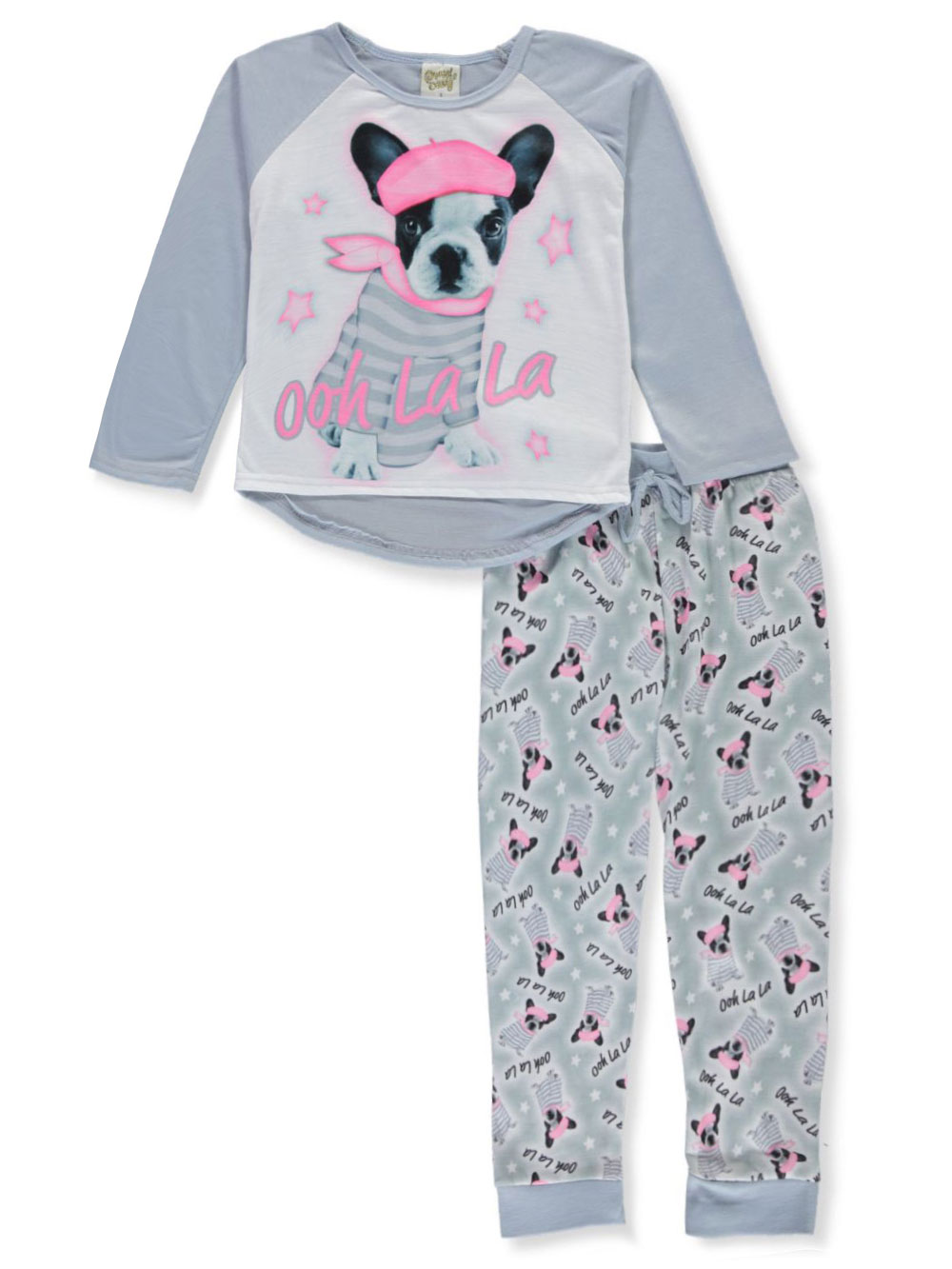 2 x Baby Girls Butterfly Panda Long Pyjamas Ages 6-23m