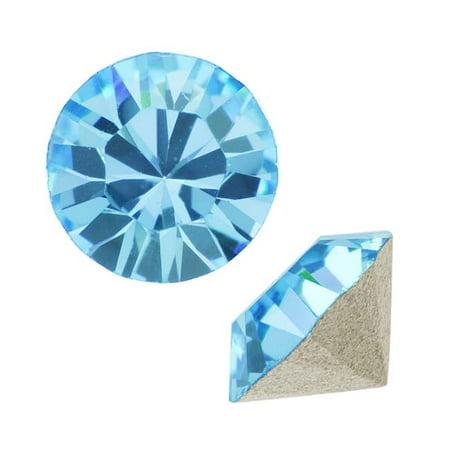 Swarovski Crystal, #1088 Xirius Round Stone Chatons ss24, 12 Pieces, Aqua