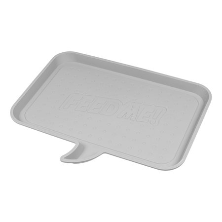 "IRIS Medium ""FEED ME"" Feeding Mat for Dog or Cat, Light Gray"