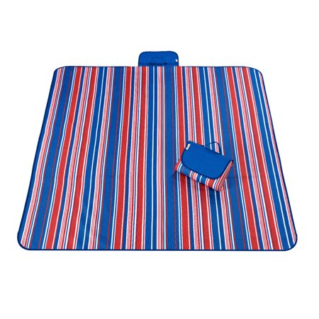 Unique Bargains Outdoor Nylon Stripe Pattern Moisture Resistant Picnic Mat 145 x 180cm](Red And White Picnic Blanket)