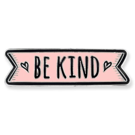 PinMart's Pink Be Kind Motivational Cute Enamel Lapel Pin