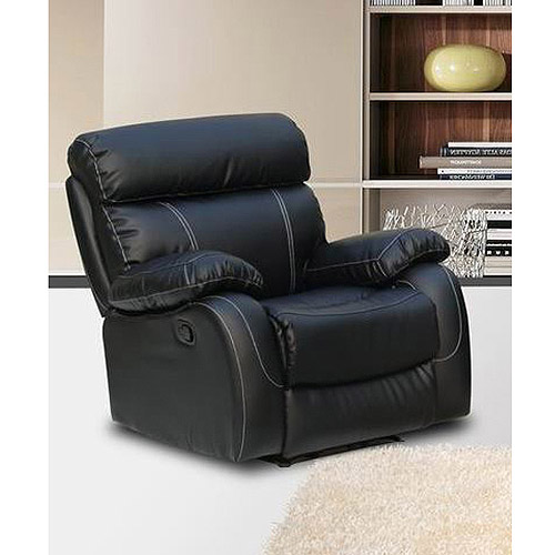 Primo International Chateau Bonded Leather Rocker Recliner, Black