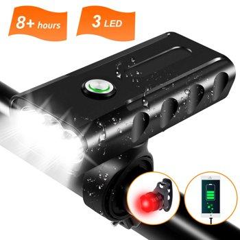 Cshidworld 1000LM USB Rechargeable Bike Light