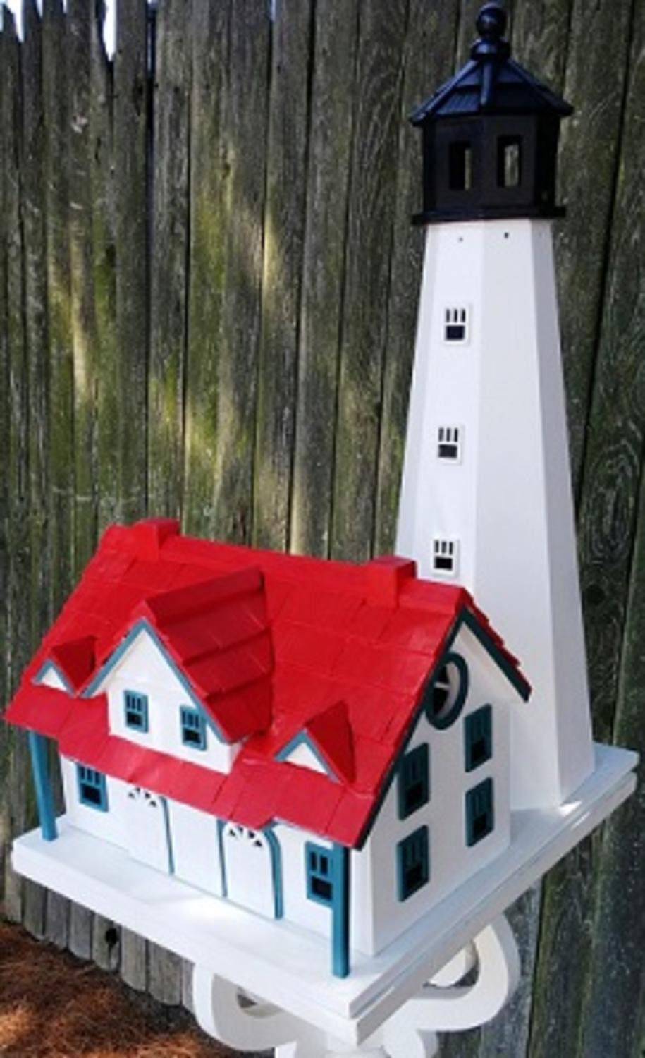 "20"" Fully Functional Portland Head Lighthouse Cottage Outdoor Garden Birdhouse by CC Outdoor Living"