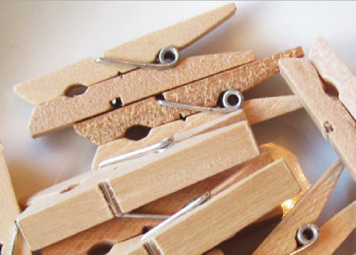 Mini Natural Wooden Gold Painted Clothespins for Home School Arts Crafts Decor DIY Screen Mini Clothespins Gold Tiny Clothes pins Photo Paper Peg Pin Craft Clips Gold 25mm 100-Pack of 1.0 inch