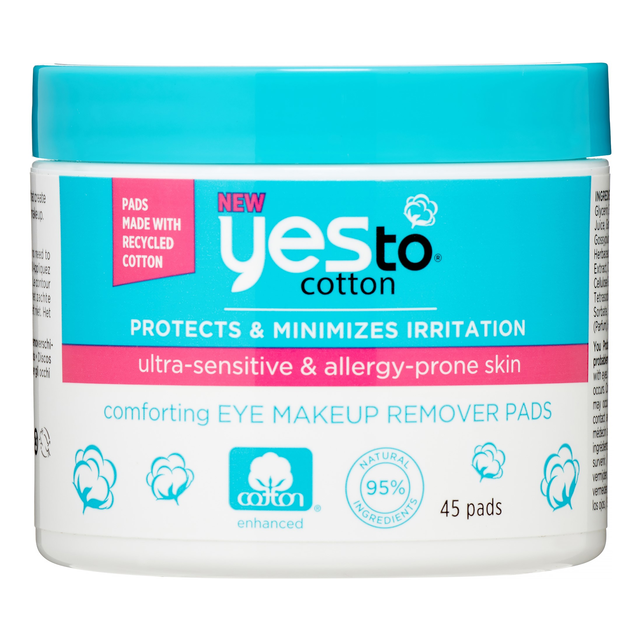 Yes To Cotton Makeup Remover Pads, 45 Count