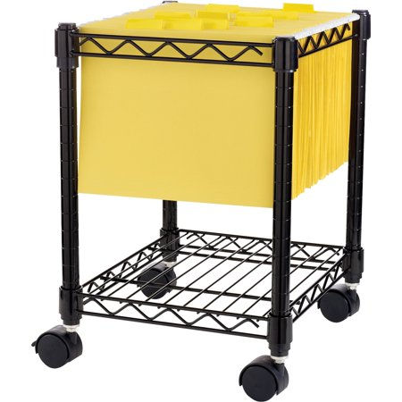 Lorell, LLR62950, Compact Mobile Wire Filling Cart, 1 Each, - Tall Heavy Load Mobile Cart