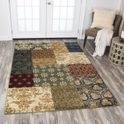 Rizzy Home XE7046 Gold 8' x 10' Power-Loomed Area Rug