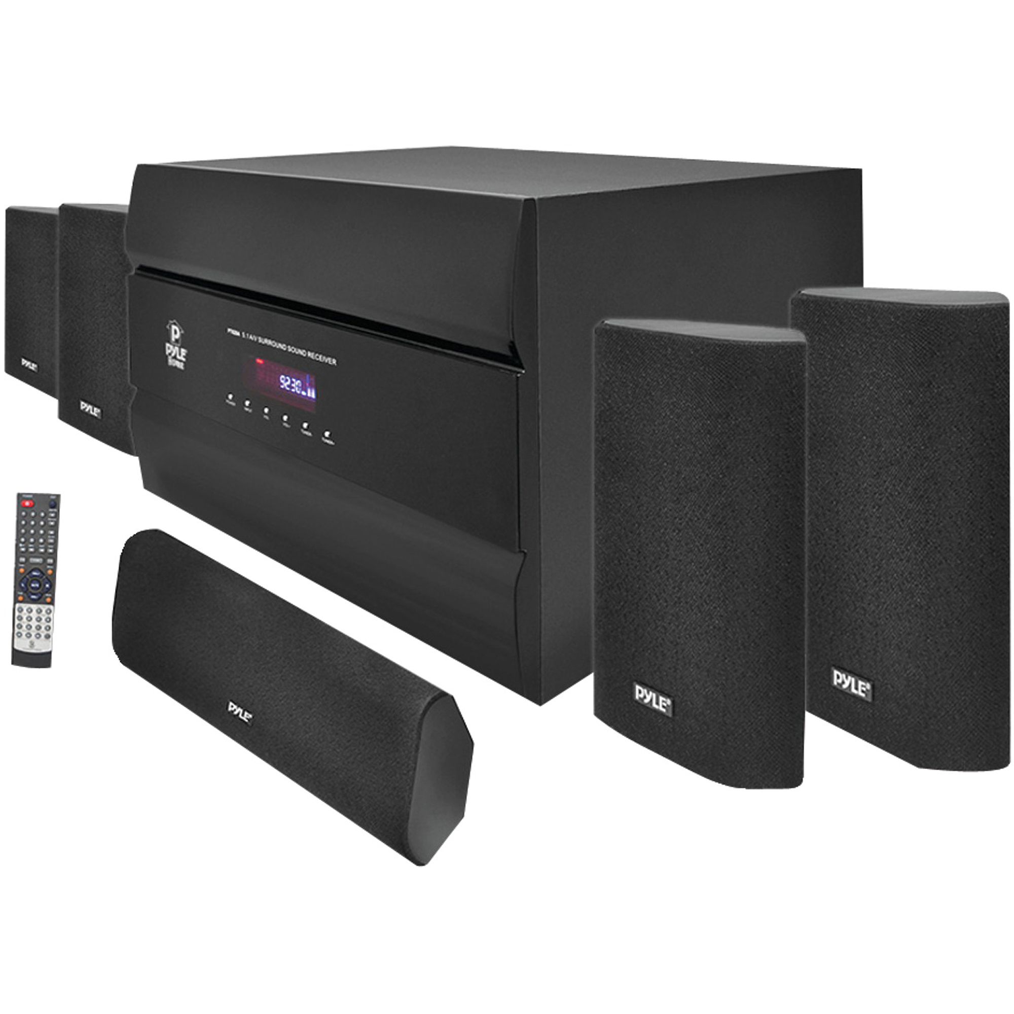 Pyle PT628A 400W 5.1-Channel Home Theater System with AM/FM Tuner, CD, DVD and MP3 Player Compatibility