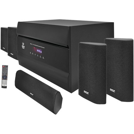 Pyle PT628A 400W 5.1-Channel Home Theater System with AM FM Tuner, CD, DVD and MP3 Player Compatibility by