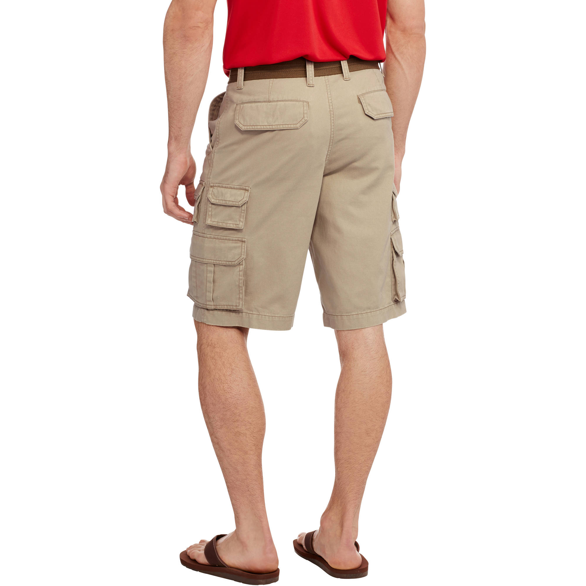 Faded Glory Men's Belted Stacked Cargo Short - Walmart.com