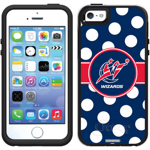 Washington Wizards Polka Dots Design on OtterBox Symmetry Series Case for Apple iPhone 5/5s