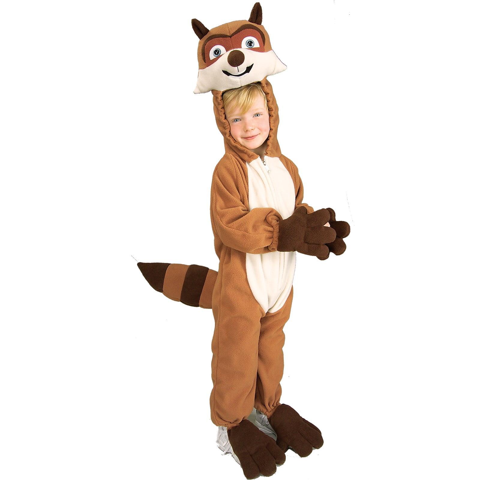 Over The Hedge RJ Raccoon Costume Plush Fleece Child Size Small 4-6 Licensed - image 1 de 1