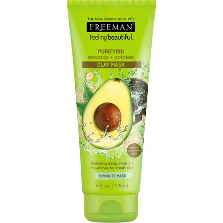 Freeman Feeling Beautiful Clay Face Mask, Purifying Avocado + Oatmeal, 6 fl (Freeman Facial Mask)