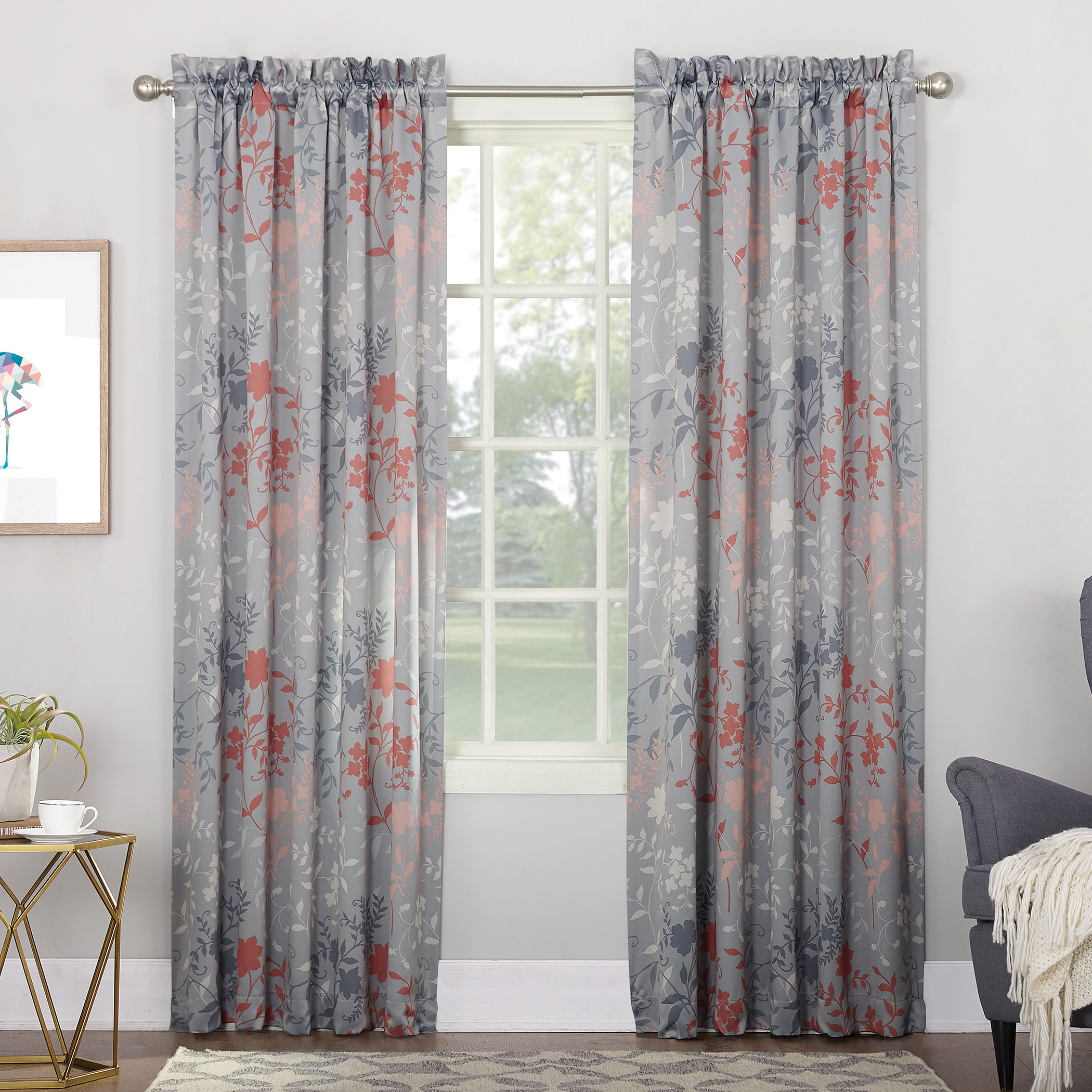 Sun Zero Oakland Rod Pocket Room Darkening Window Curtain Panel