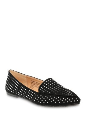 Time and Tru Embellished Feather Flat (Women's) (Wide Width Available)