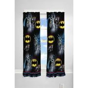 Batman Kids Bedroom Curtain Panel Set, Set of 2, 63-inch L