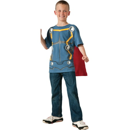 Child's Marvel Asgard Thor T-Shirt With Cape Costume