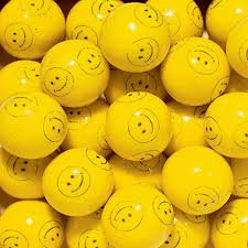 Concord Confections Yellow Smiley Face One Inch Gumballs, (Pack of (Face Gumballs)