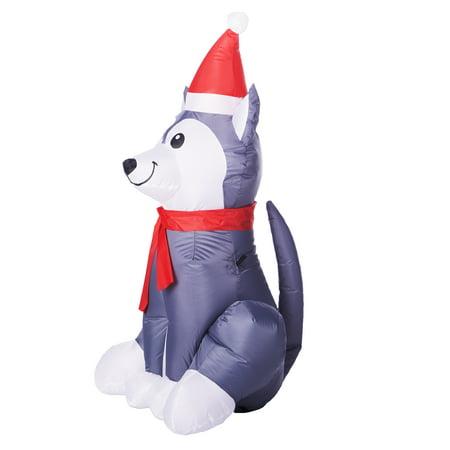 ... Holiday Time 3.5 Ft. Inflatable Husky Dog ...