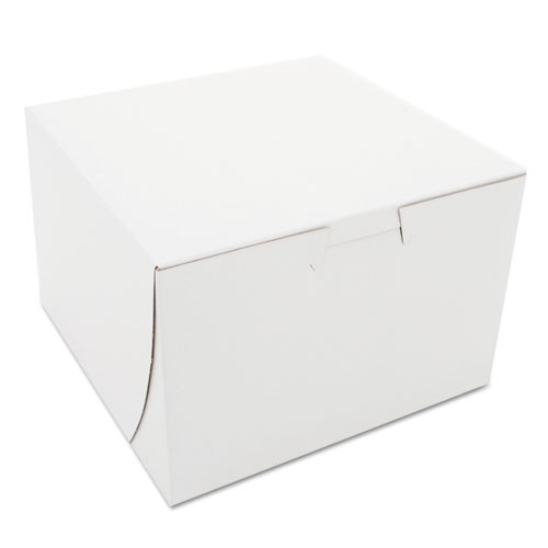 Non-Window Bakery Boxes, Paperboard, 6 x 6 x 4, White, 25...