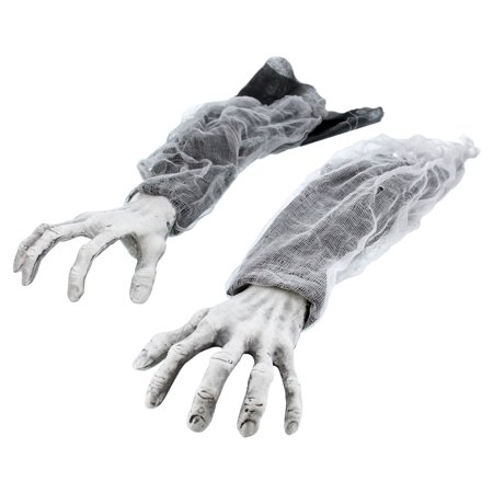 Halloween Haunters Creepy Groundbreaker Graveyard Arms Hands (Pair) - Prop - Halloween Graveyard Fence Decoration