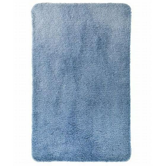 Threshold Bathroom Rugs: Threshold Plush Washed Blue Performance Bath Rug Skid