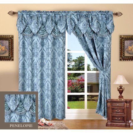 Elegant Comfort Beautiful Design Jacquard Look Curtain Panels 55