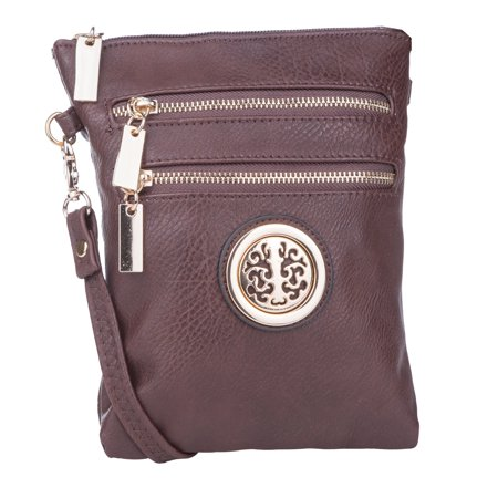 MKF Collection Coffee Arabelle Crossbody Bag by Mia K. Farrow