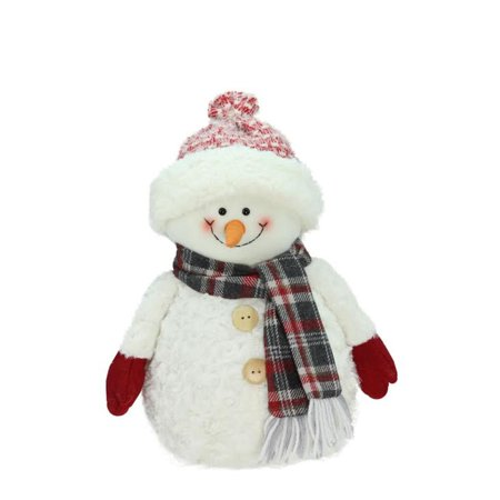 Northlight Seasonal Smiling Snowman with Knit Hat Christmas Tabletop Decoration](Christmas Tabletop Decorations)