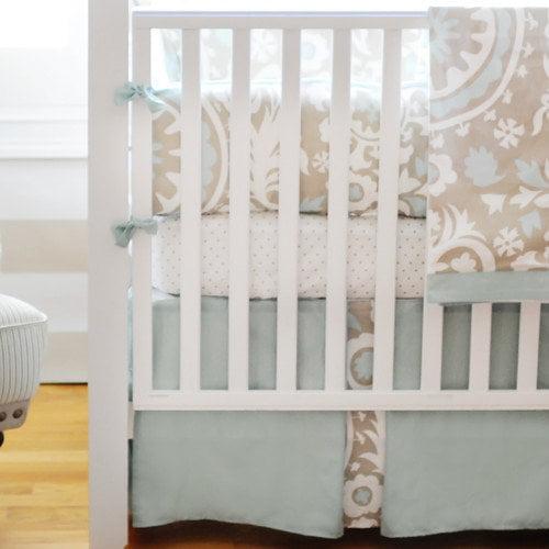New Arrivals Picket Fence 4 Piece Crib Bedding Set