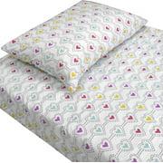 Store51 Llc 12440518 Stencil Hearts Love Bedding Twin Bed Sheet Set