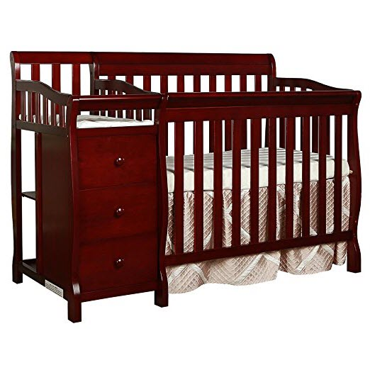Dream On Me Jayden 4in1 Mini Convertible Crib and Changer