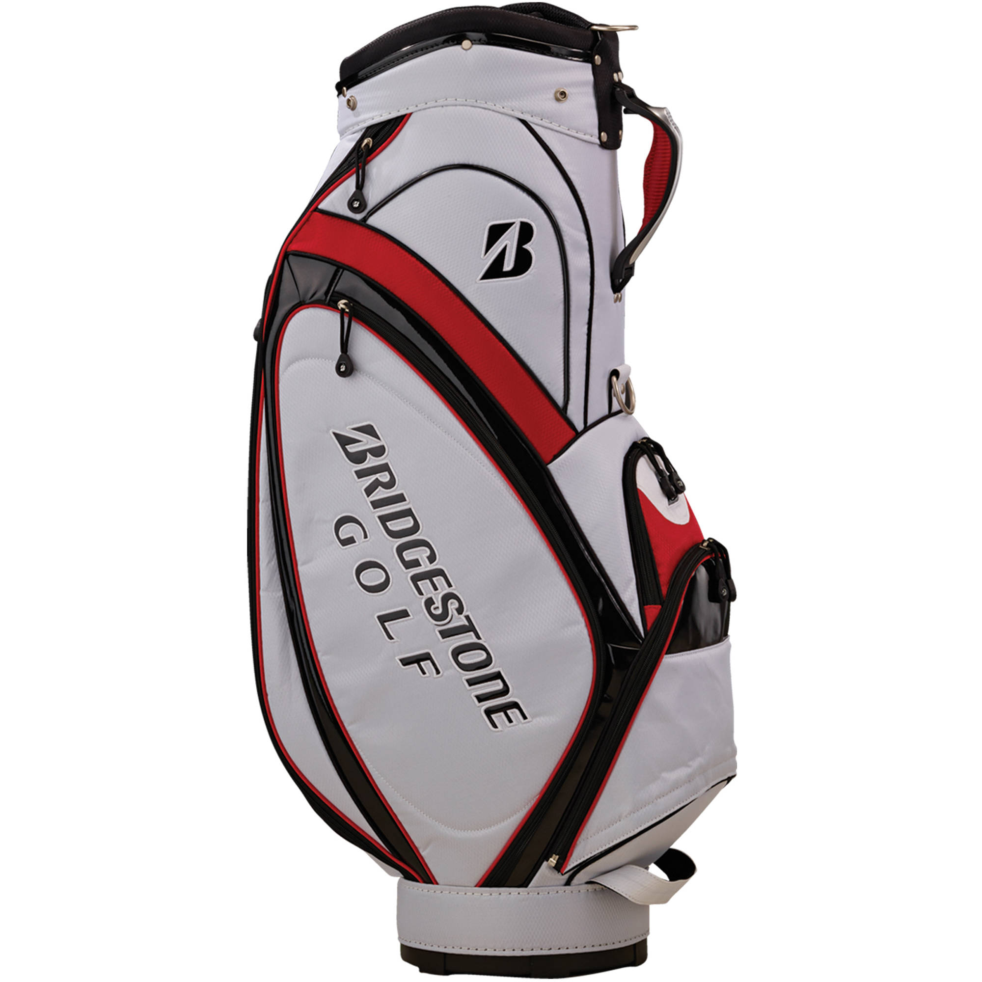 "Cart Bag, 9.5"", White/Black/Red"