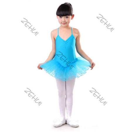 Girls Kids Leotard Ballet Dance Dress Tutu Skirt Dancewear Costume Age 3-12 Yrs - Dance Dresses For Tweens