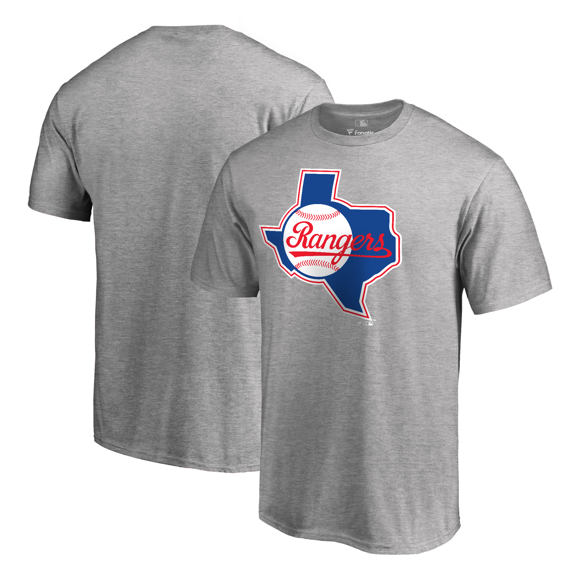 Texas Rangers Fanatics Branded Cooperstown Collection Huntington T-Shirt - Ash