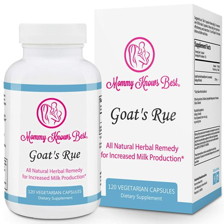 Mommy Knows Best Goat's Rue Lactation Aid Support Supplement for Breastfeeding Mothers 120