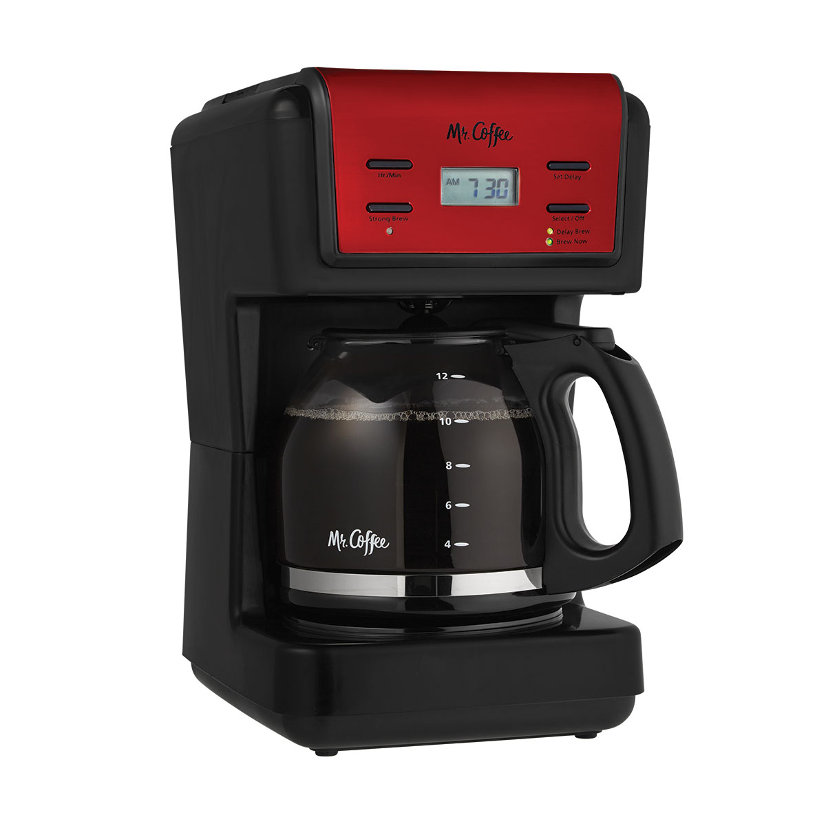 Mr. Coffee 12-Cup Programmable Coffee Maker, Red (BVMC-KNX26)