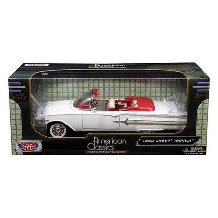 White 1960 Chevy Impala Convertable 1:18 Scale Car