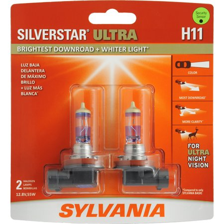 Sylvania Halogen Headlights - SYLVANIA H11 SilverStar ULTRA Halogen Headlight Bulb, Pack of 2